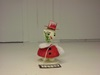 180-DF0248B Snowman Bobbler Ornament (red)
