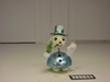 180-DF0248C Snowman Bobbler Ornament (blue)