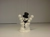 180-PJ0542 Ceramic Snowman with 2 Spreaders