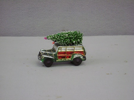 BL-LC6376 Christmas Vaction Car Glass Ornament