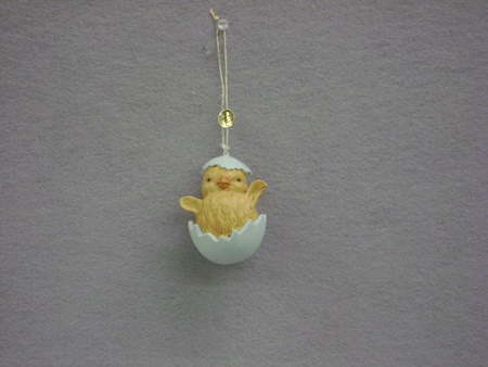 BL-TJ5296C Chick in Easter Egg Ornament