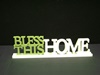 KK-11600H Green & Cream Bless This Home Cutout