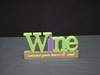 KK-12072A Wine Cutout Tabletop Sign