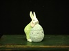KK-20164A Resin Bunny Leaning on Blue Egg