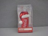 KA-CC4121 Glass Coca-Cola Can with Santa Hat